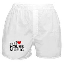I Love House Music Boxer Shorts
