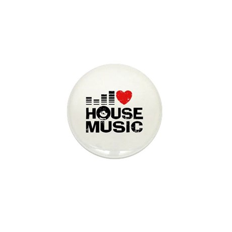 I love house music mini button by snapetees for I love house music