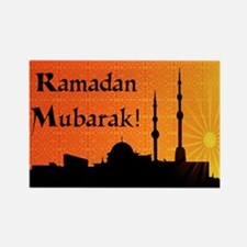 Ramadan Mubarak Rectangle Magnet