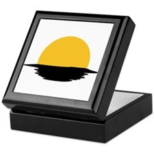 Sunset - sun Keepsake Box