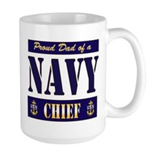 Chief's Dad Block Style Mug