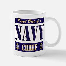 Chief's Dad Block Style Mug