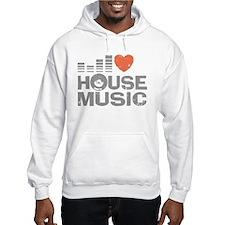 I Love House Music Jumper Hoody