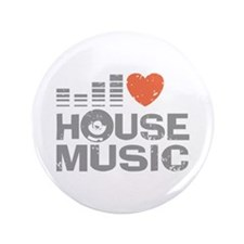 """I Love House Music 3.5"""" Button"""