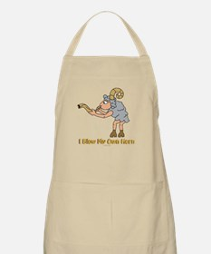 Blow Own Horn Funny Jewish Apron