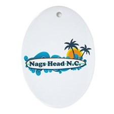 Nags Head NC - Surf Design Ornament (Oval)