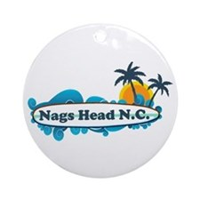 Nags Head NC - Surf Design Ornament (Round)