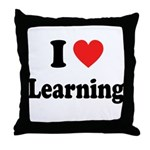 I Love Learning: Throw Pillow