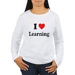 I Love Learning: Women's Long Sleeve T-Shirt