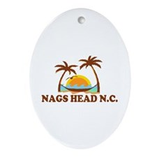 Nags Head NC - Palm Trees Design Ornament (Oval)
