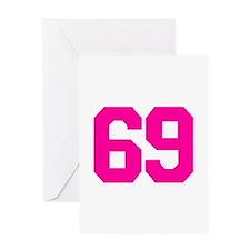 69 - sixty-nine Greeting Card