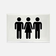 Threesome Rectangle Magnet