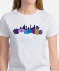 Chicago Circles And Skyline Tee