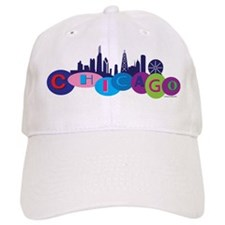 Chicago Circles And Skyline Baseball Cap