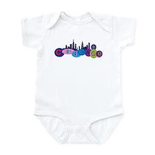 Chicago Circles And Skyline Infant Bodysuit
