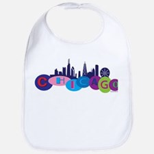 Chicago Circles And Skyline Bib