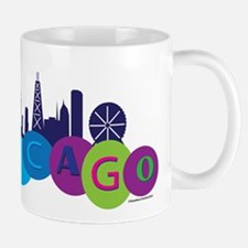 Chicago Circles And Skyline Mug