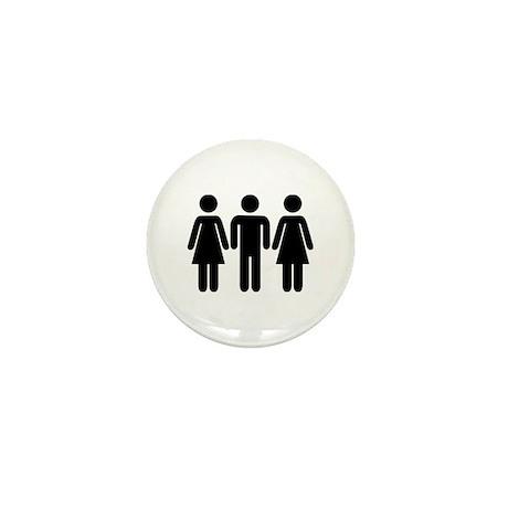 Threesome Mini Button (10 pack)