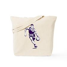 BASKETBALL *1* {purple/white} Tote Bag