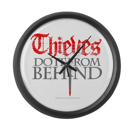 Thieves Large Wall Clock