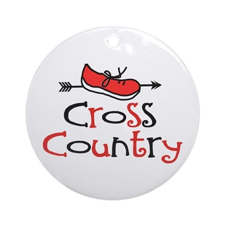 Cross Country Shoe Ornament (Round)
