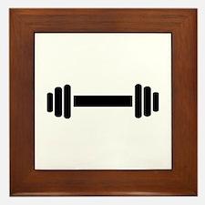 Barbell - weightlifting Framed Tile