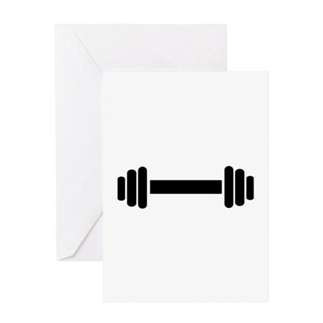 Barbell - weightlifting Greeting Card