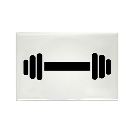 Barbell - weightlifting Rectangle Magnet