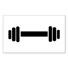 Barbell - weightlifting Decal