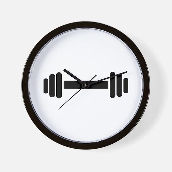 Barbell - weightlifting Wall Clock