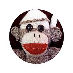 "Ernie the Sock Monkey 3.5"" Button"