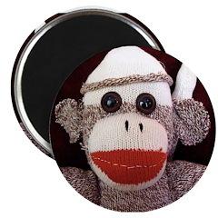 "Ernie the Sock Monkey 2.25"" Magnet (100 pack)"