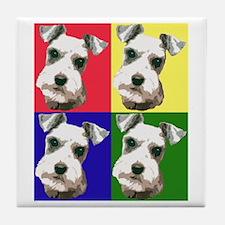 Color Block Schnauzer Tile Coaster