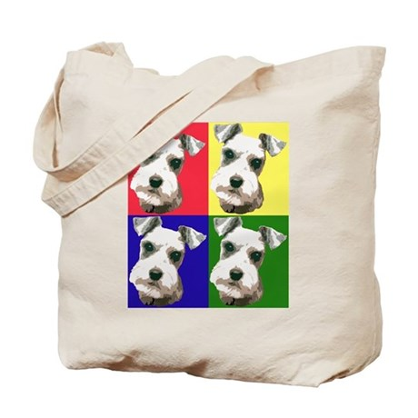 Color Block Schnauzer Tote Bag