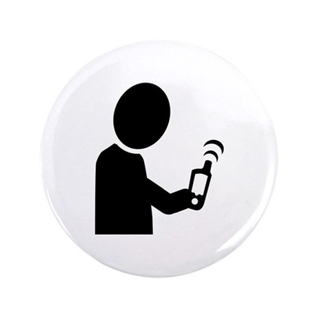 """Geocaching 3.5"""" Button (100 pack)"""