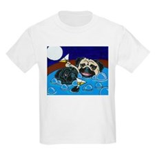 Hot Tub Pugs Kids T-Shirt