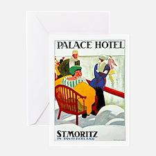 St. Moritz Switzerland Vintage Greeting Card