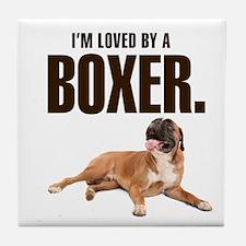 Boxer Love Tile Coaster