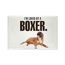 Boxer Love Rectangle Magnet