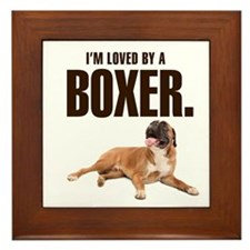 Boxer Love Framed Tile