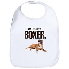 Boxer Love Bib