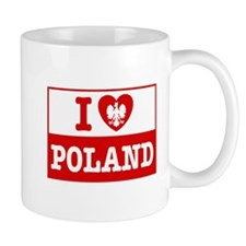 I Love Poland Flag Mug