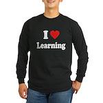 I Love Learning: Long Sleeve Dark T-Shirt