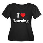 I Love Learning: Women's Plus Size Scoop Neck Dark