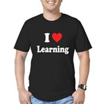 I Love Learning: Men's Fitted T-Shirt (dark)