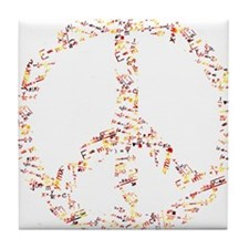 formula for peace Tile Coaster