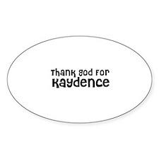 Thank God For Kaydence Oval Decal