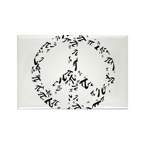 Peace of Pi Rectangle Magnet (10 pack)