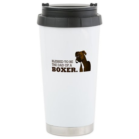 Blessed Boxer Dad Stainless Steel Travel Mug