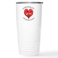 Unique 1st wedding anniversary Travel Mug